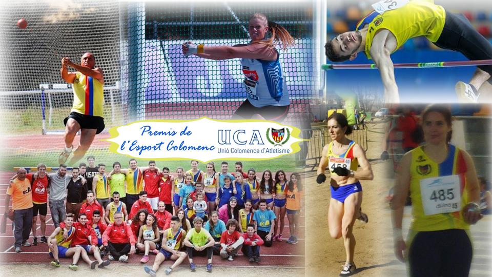 Els atletes de la UCA, entre els guardonats als Premis de l'Esport Colomenc 2016