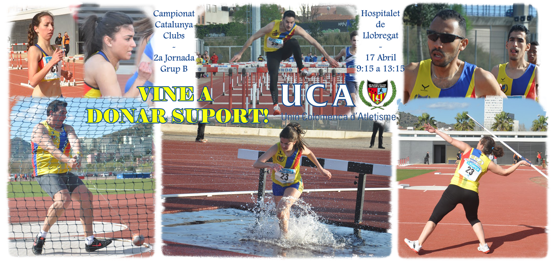 Vine a donar suport a la UCA en la 2a jornada del Campionat de Catalunya de Clubs!