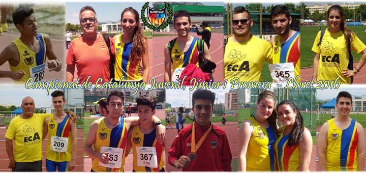 Resultats de la UCA al Campionat de Catalunya Juvenil, Júnior i Promesa