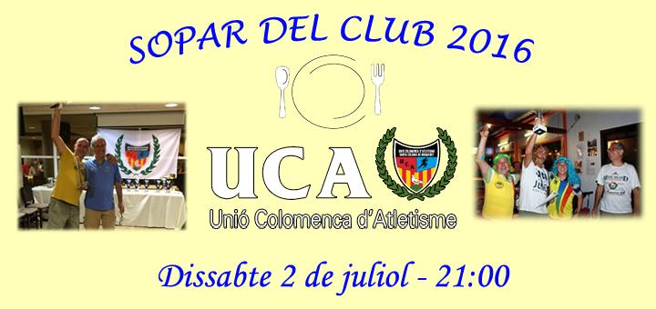 Sopar Anual del Club 2016