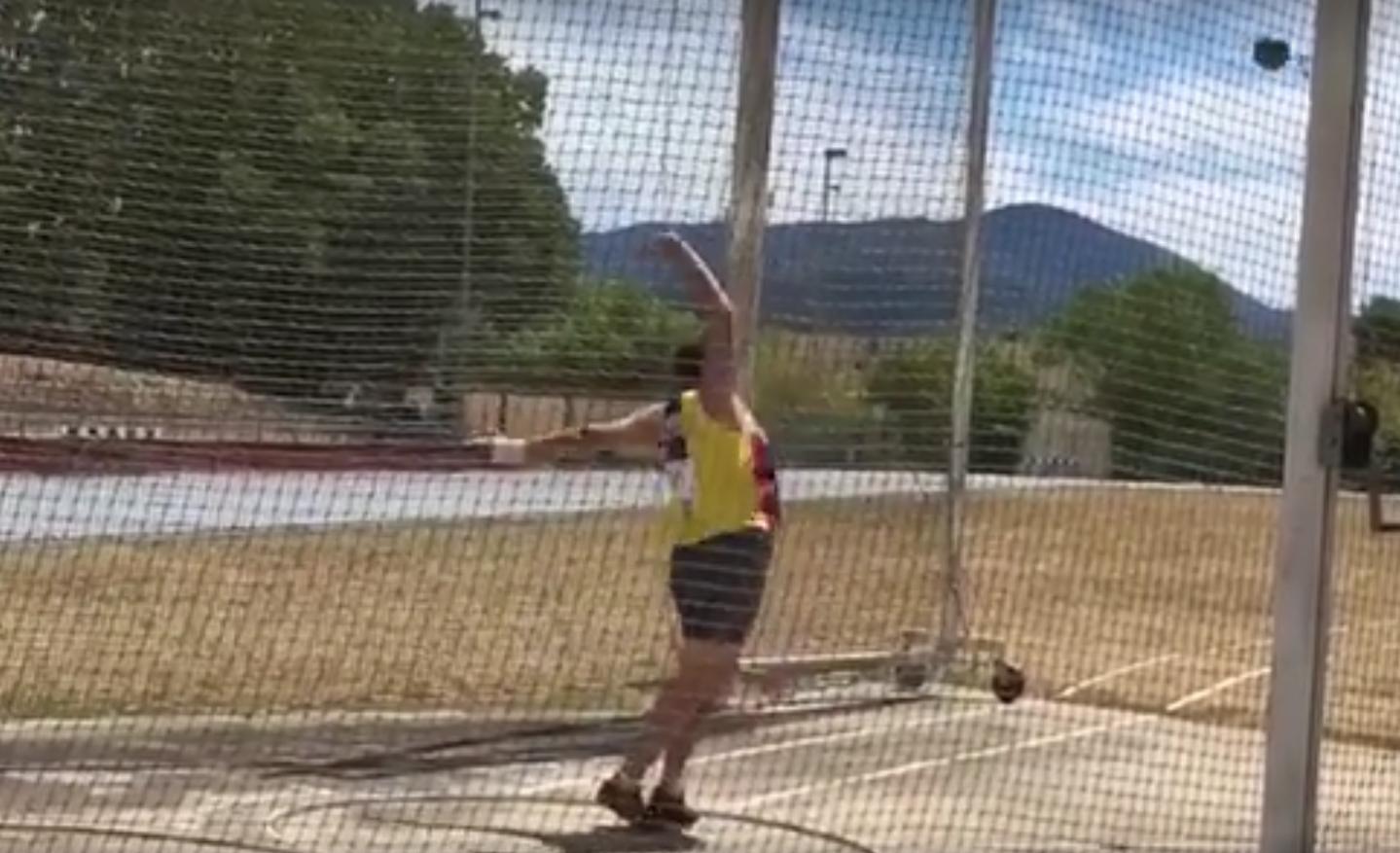 David Moreno torna a batre el seu rècord de Catalunya de martell pesat