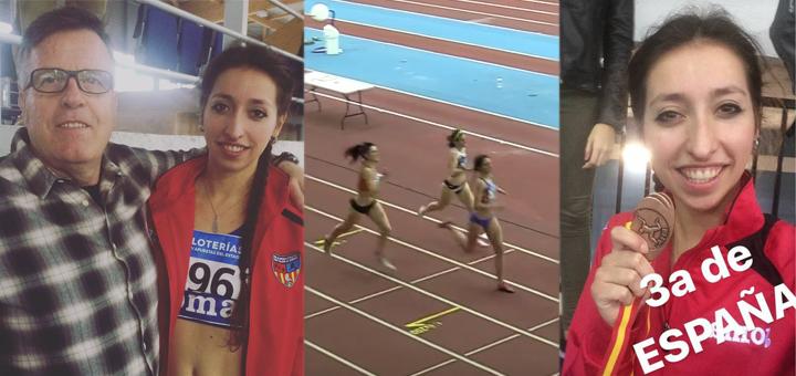 Noelia Medina, bronze en 800m al Campionat d'Espanya Promesa en Pista Coberta