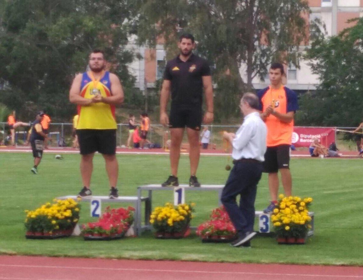 Alex Martinez, plata en llançament de disc al 97è Campionat de Catalunya Absolut