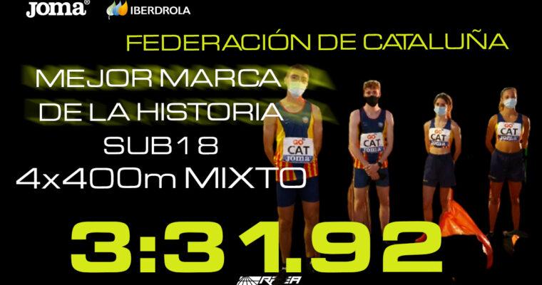 Rècord des del Campionat d'Espanya de Federacions Autonòmiques Sub18